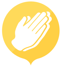 hands in prayer icon