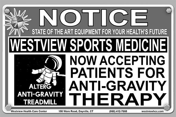 Photo of AlterG Anti-Gravity Treadmill Advertisement