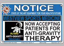 AlterG Anti Gravity treadmill ad photo