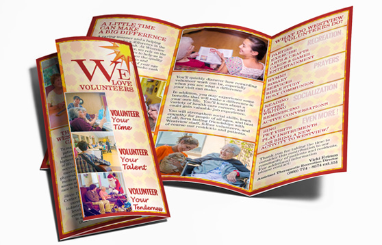 Photo of Westview's Volunteer Brochure