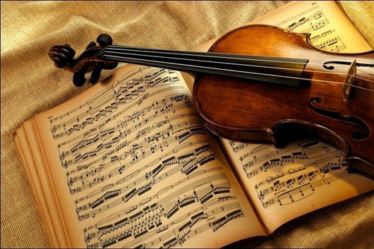 image of Violin and music sheets