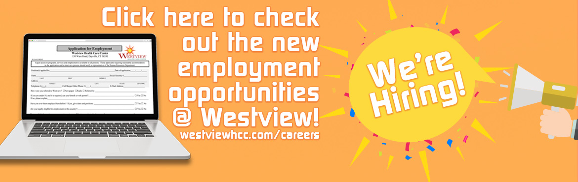 Employment Opportunities at Westview banner