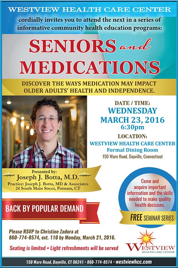Photo of Dr. Botta seminar poster