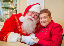 Image of Santa and Westview Resident