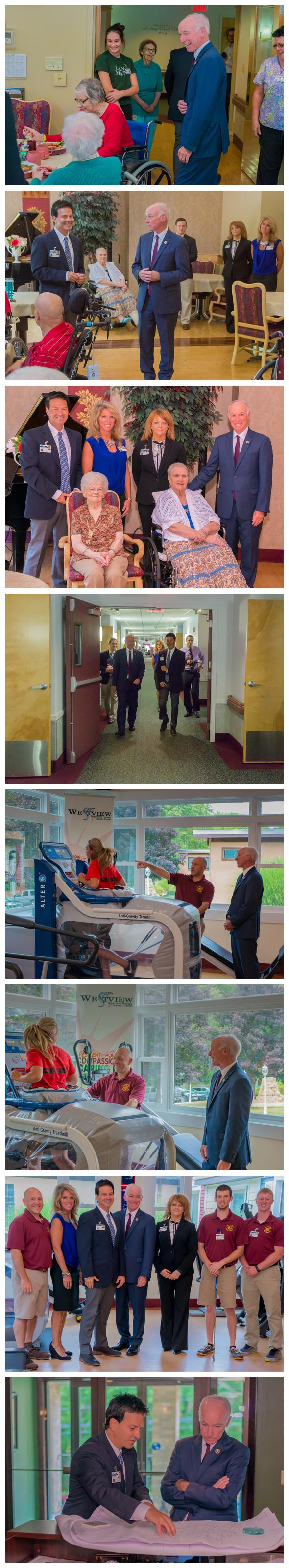 Photo montage of Congressman Joe Courtney's visit to Westview