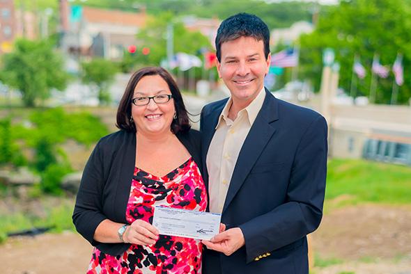Photo of Karen Osbrey and David Panteleakos