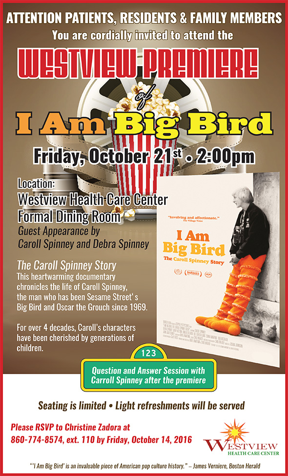 Photo of I Am Big Bird event poster