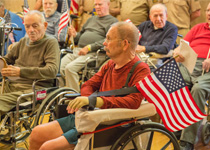 Image of Veterans Day service at Westview