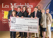Photo of Donation Check (Les Misérables)