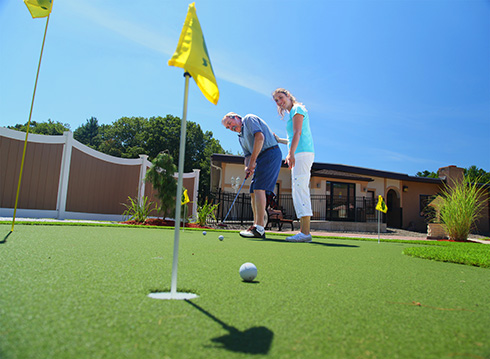 Photo of Westview's Golf Therapy Putting Green